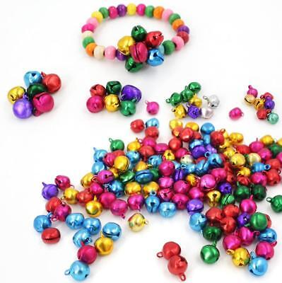 Mixed Colour Christmas Jingle Bells Charm Jewellery Beads 8mm 10mm 12mm 15/20mm