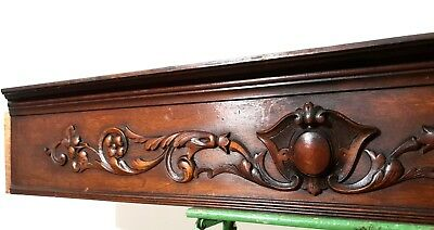 Architectural scroll leaves mantel pediment Antique french salvaged furniture