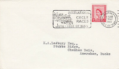 (19087) GB Isle of Man Cover 2.5d Cycle Races slogan Ramsey 7 May 1965
