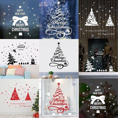 Merry Christmas Tree Wall Window Stickers Decal Sence Decoration Decor Xmas