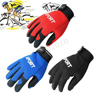 Anti-slip Full Finger Bike Cycling Bicycle Sports Gloves Fitness Gym Training