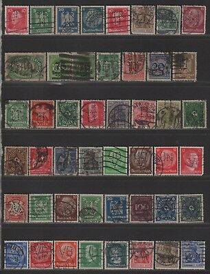 Germany Perfin Lot of Different Design Faces