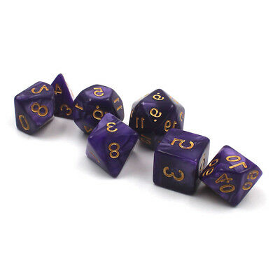7x 7 Type Purple Polyhedral Dice For DND RPG MTG Board Table Game Gaming new D2