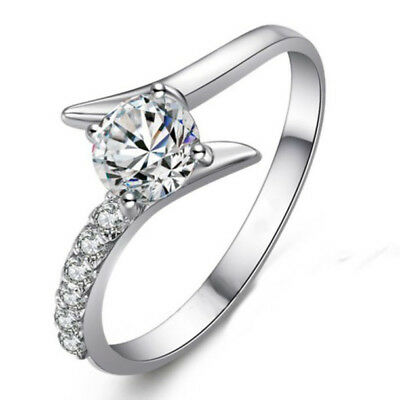 18K White Gold 0.50 Ct Solitaire With 0.24Tcw Accents Natural Diamond Women Ring