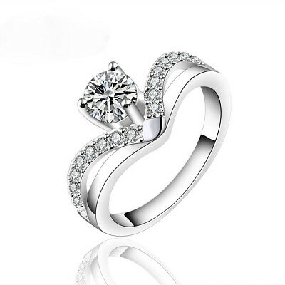 18K White Gold 0.40Ct Solitaire With Accents 0.48Tcw Women Natural Diamond Ring