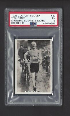 1935 J A Pattreiouex - #40 T W Green - Sporting Events & Stars - Psa 5