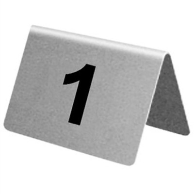Olympia U048 Stainless Steel Table Numbers (Pack of 10)