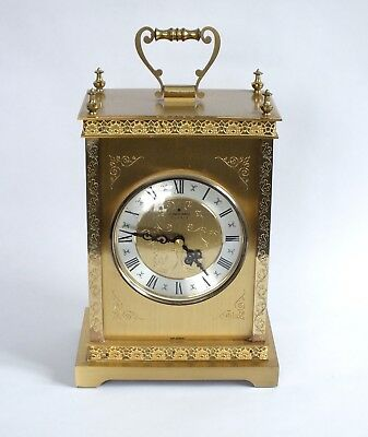 JUNGHANS  Vintage Mantel Clock. Made in Germany. Working. Brass Quartz
