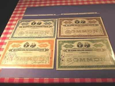 Vintage Lehigh Coal And Navigation Stock Papers