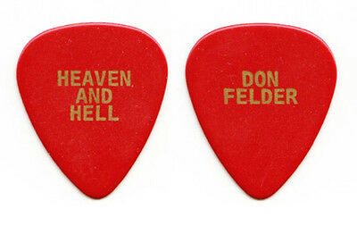 Eagles Don Felder Heaven and Hell Red Guitar Pick - 2008 Solo Tour