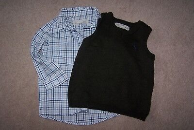 H&M baby boys shirt and tank top outfit. 9-12 month. Immaculate