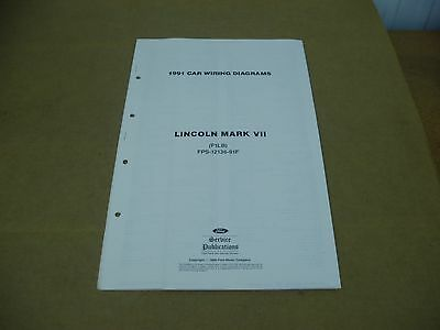 1989 Lincoln Town Car Factory Foldout Wiring Diagram Electrical Schematic 89 OEM