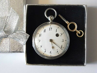 Beautiful Antique French Hallmarked Silver VERGE FUSEE Pocket Watch c1819 / 1838