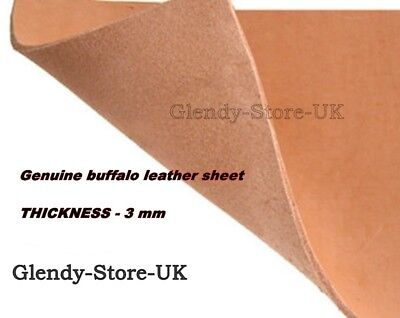 Buffalo Leather sheet- brown 3MM THICK -FOR LEATHER crafts 13'X13'- RAW LEATHER