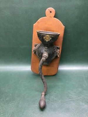 Antique Enterprise PA No. 00 Cast Iron Coffee Grinder Wall Mount ~ Estate Find
