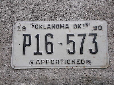 Oklahoma 1990 Apportioned License Plate  # P16 - 573