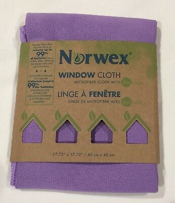 New Norwex Window Cloth with BacLock Chemical-free Window Cleaning. Purple
