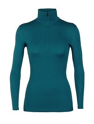 Icebreaker Oasis Longsleeve Half Zip Women Funktionsshirt Baselayer kingfisher