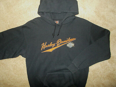 Harley-Davidson Orwigsburg Pa Black Hooded Sweatshirt Mens Medium Excellent Cond