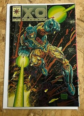 XO Manowar #1 Gold Varriant,Error Printing,1992,VF/NM,FREE SHIPPING