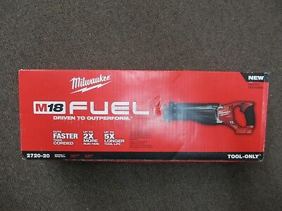 MILWAUKEE 2720-20 18V 18 VOLT M18 FUEL Brushless Reciprocating Saw Tool ONLY NEW