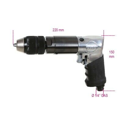 Beta Tools 1932B13 Reversible Air Drill Autochuck 1.5-13mm 400rpm 6.2bar 340W