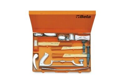 Beta Tools 1369/C11 11pc Dolly & Hammer Set in Case Body Shop Repair | 013690033