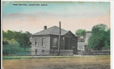 IVORYTON, CT - Post Office, left/front view from street