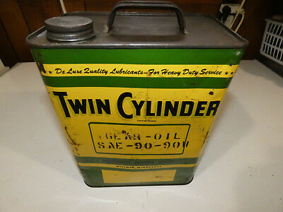 Very Rare Vintage 2 Gallon Twin Cylinder John Deere Tractor Oil  Can Wilmar MN