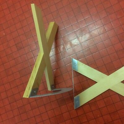 IKEA Metal And Wooden X Bookend/Book-End