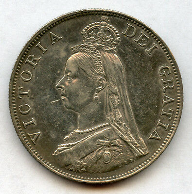 GREAT BRITAIN 1887 Qn.VICTORIA DOUBLE FLORIN ARABIC 1, NICE TONED+LUSTER AU.