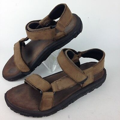735134fa4082a Teva Universal Sports Sandals Men s Size 12 Brown Leather Adjustable Straps