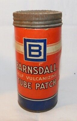 RARE old Barnsdall Tube Repair Kit Advertising Motorcycle Car Tire Patch Tin