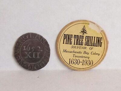 Boston Massachusetts Bay Colony Tercentenary 1630-1930  Pine Tree Shilling Coin