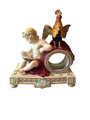 Antique Meissen porcelain figural clock case