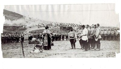 WWI PRESS PHOTO- Russian priest blesses troops