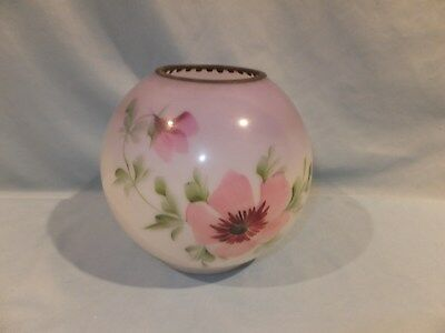 1870 - 1900 Victorian Hand painted Small Banquet Ball oil lamp Shade