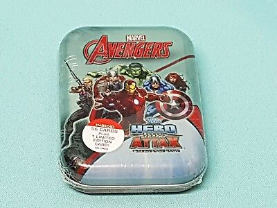 Topps Marvel Avengers Hero Attax Mini Tin Box + Limited Edition