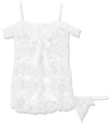 Softline Collection Babydoll Nuisette Erika avec G-string vita Blanc L