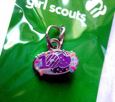 Girl Scout 100 YEARS ANNIVERSARY OF COOKIE SALES CHARM Silver Bracelet Jewelry