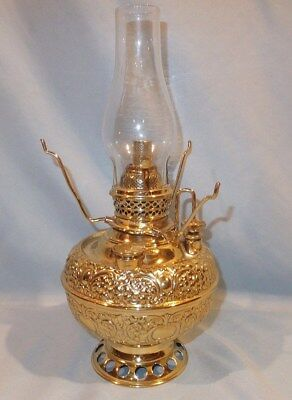 Complete 1890's Miniature Miller Brass Oil Lamp