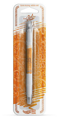 Rainbow Dust Write & Draw Cake Icing Decorating Edible Orange Food Colour Pen