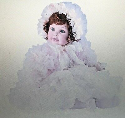 "MIB Marie Osmond ""Nettie"" Seated Porcelain Doll (14-Inch Tall) w/COA & Bracelet"