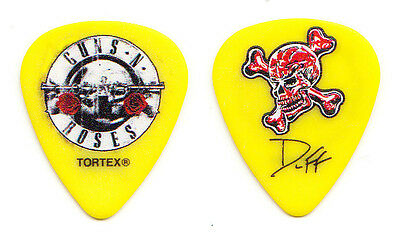 Guns N' Roses Duff McKagan Signature Yellow Guitar Pick - 2016 Tour GNR