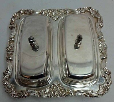 Poole Silver Covered Butter & Condiment Dish