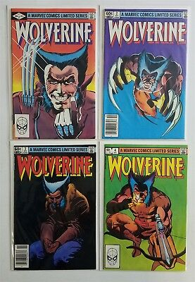 Wolverine #1-4 Copper Age Comic Limited Series Complete Run Lot Nm High Grade
