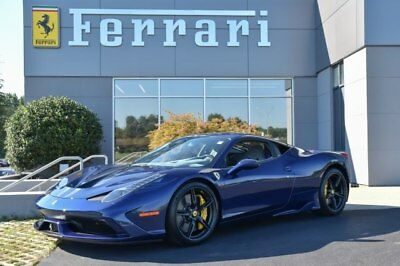2015 Ferrari 458 Speciale  2015 Coupe Used 4.5L V8 Automatic 7-Speed RWD Blue Le Mans