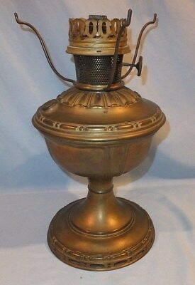 Complete Original # 7  Aladdin satin Brass Table OIl lamp