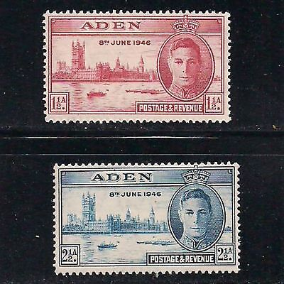 ADEN:  two [#28 & #29]  PEACE issue stamps -- MH --