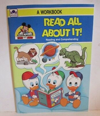 Disney Golden Workbook Read All About It Color Learn Activity Book 1988
